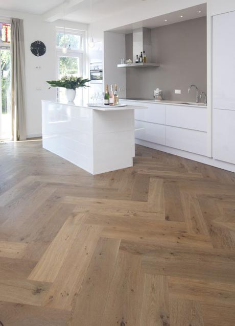 Rustic French Oak Herringbone