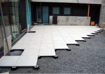 Stone Slabs Tiles on Pedestals