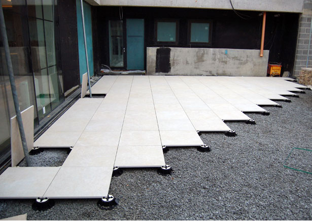 Stone Slabs Tiles On Pedestals Architectural Surfaces London